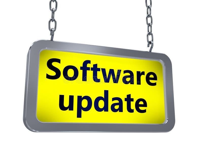 Actualización de software en la cartelera ilustración del vector