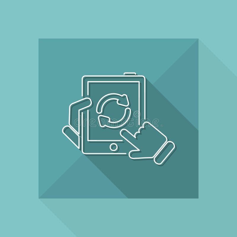 Actualizaciones de la aplicación stock de ilustración