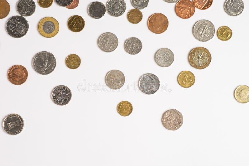 Acu?a el dinero en un fondo blanco foto de archivo