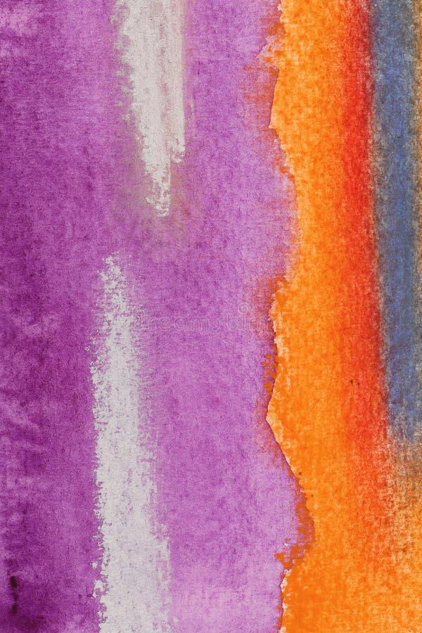 Acuarela abstracta con violeta y púrpura libre illustration