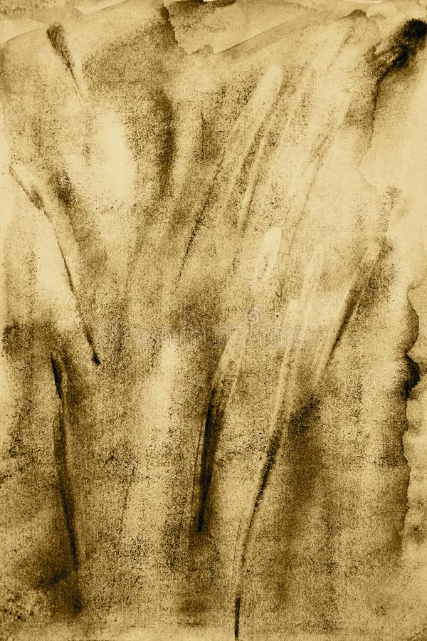 Acuarela abstracta en la textura de papel como fondo En tonelada de la sepia libre illustration