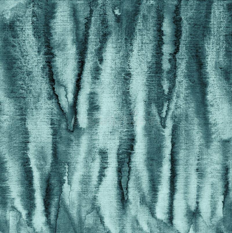 Acuarela azul abstracta en la textura de papel como fondo Christm ilustración del vector