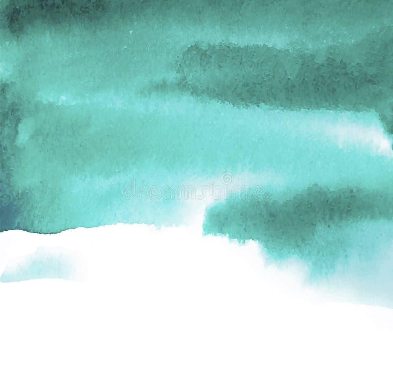 Acuarela azulverde del punto stock de ilustración