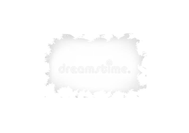 Acuarela blanca del cepillo del grunge del marco, ejemplo abstracto aislado, diseño creativo del vector del fondo del chapoteo de ilustración del vector