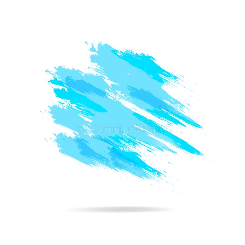 Acuarela, chapoteo del cepillo del grunge, vector de la textura del fondo del extracto del cartel del marco de la bandera libre illustration