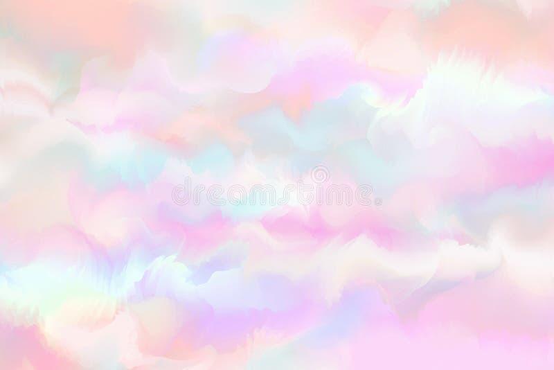 Acuarela colorida abstracta para el fondo Paintin del arte de Digitaces libre illustration
