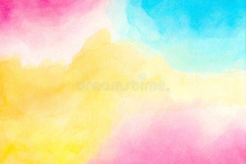 Acuarela colorida abstracta para el fondo Pintura hecha a mano del arte libre illustration