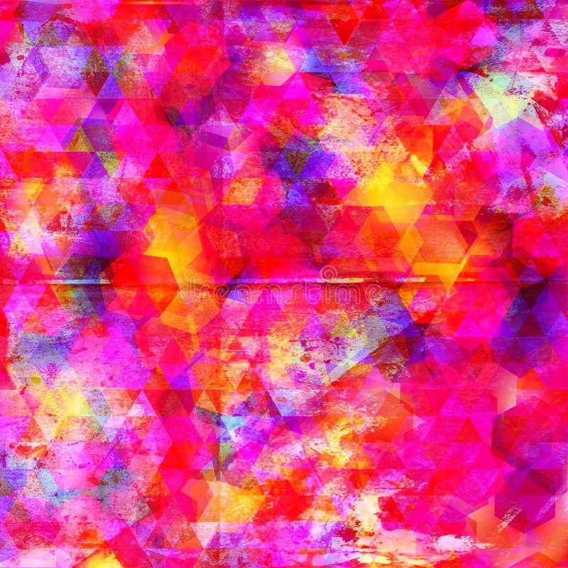 Acuarela colorida abstracta y fondo digital de la pintura libre illustration