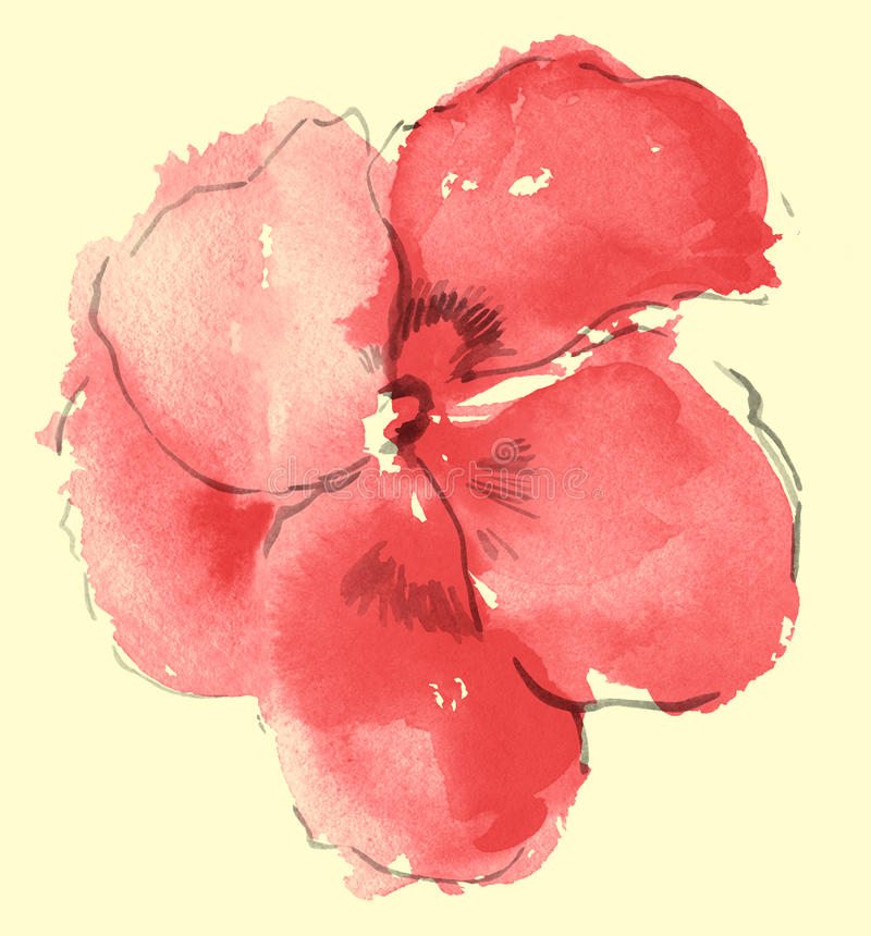Acuarela de sakura stock de ilustración