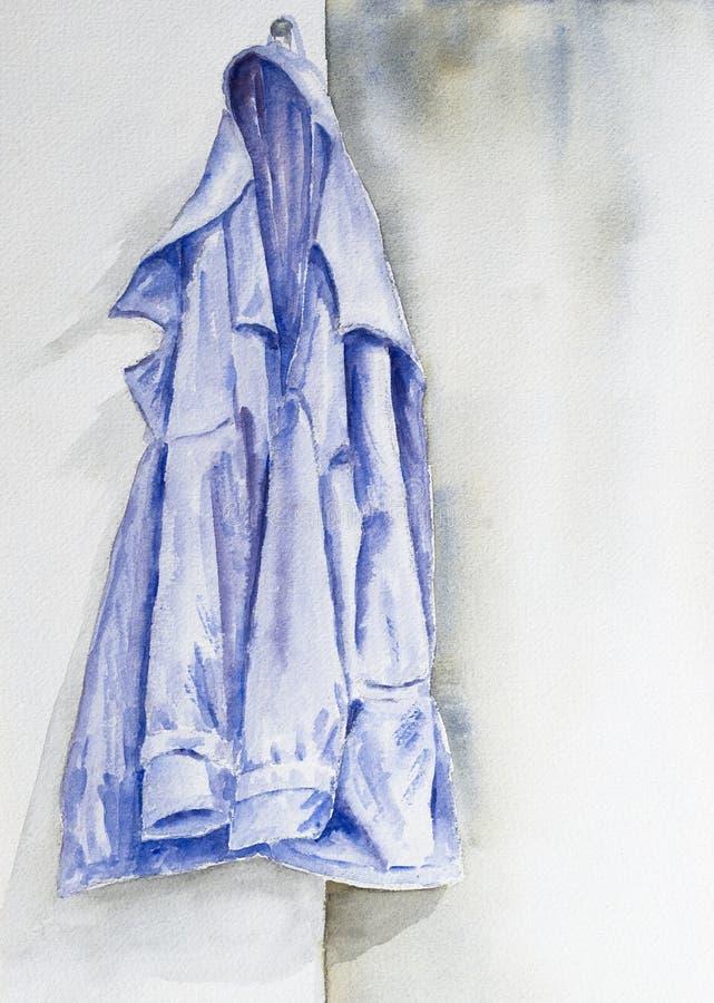 Acuarela de una chaqueta azul libre illustration