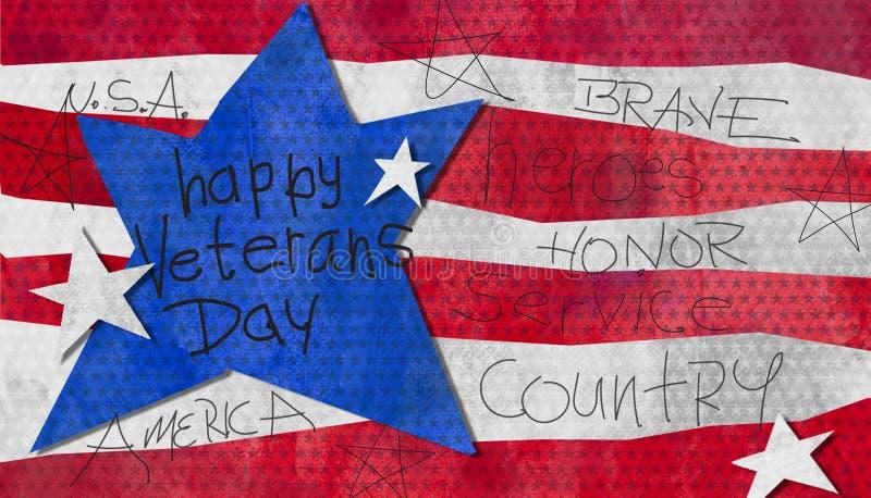 Acuarela del día de veteranos stock de ilustración
