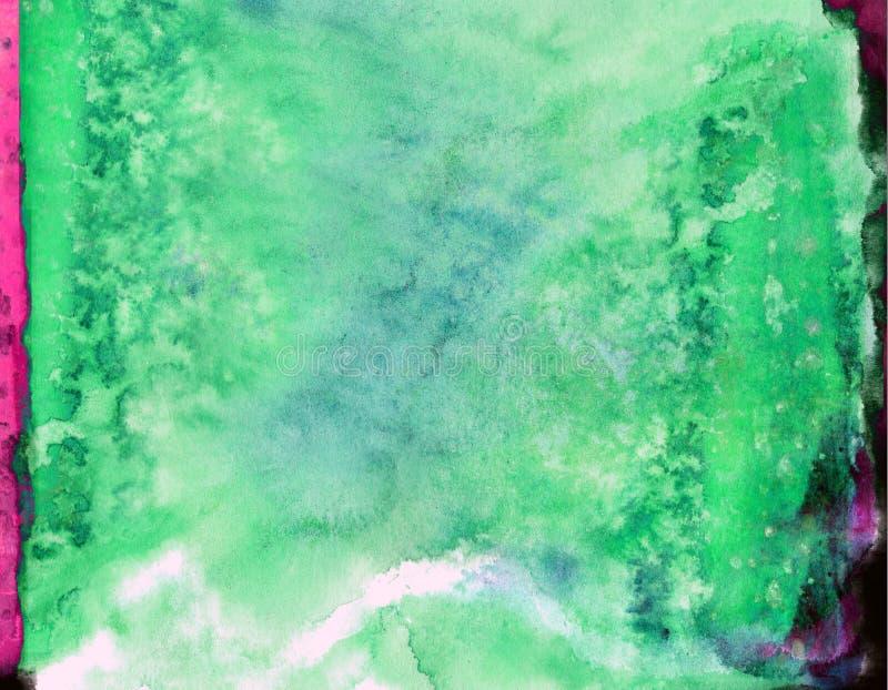 Acuarela del efecto acuoso del Grunge o tinta abstracta de la salpicadura líquida de la pintura stock de ilustración