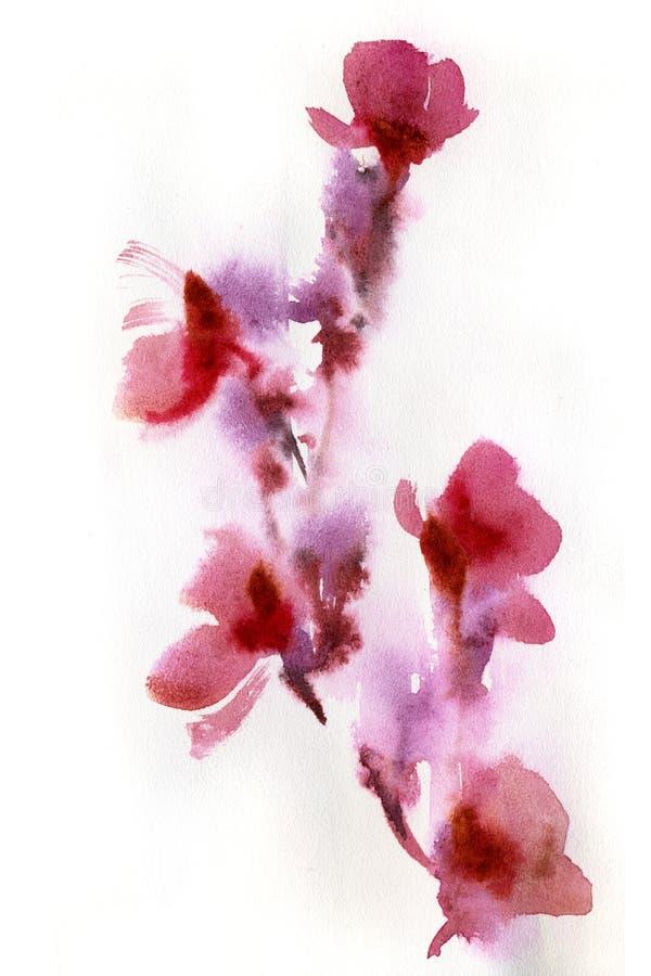 Acuarela floral abstracta