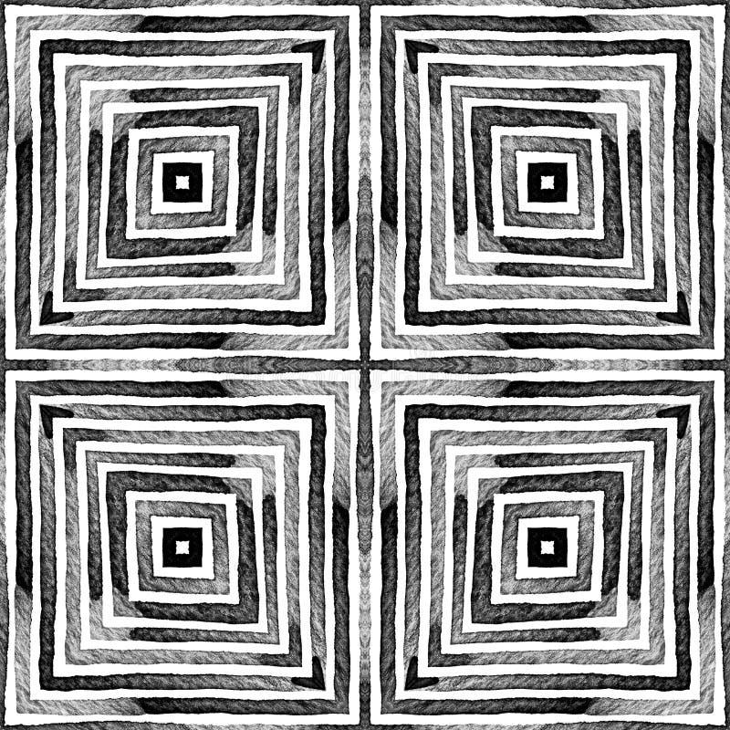Acuarela geométrica blanco y negro oscura Dazzlin fotos de archivo