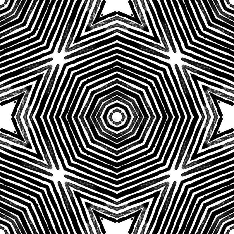 Acuarela geométrica blanco y negro oscura Dazzlin imagen de archivo