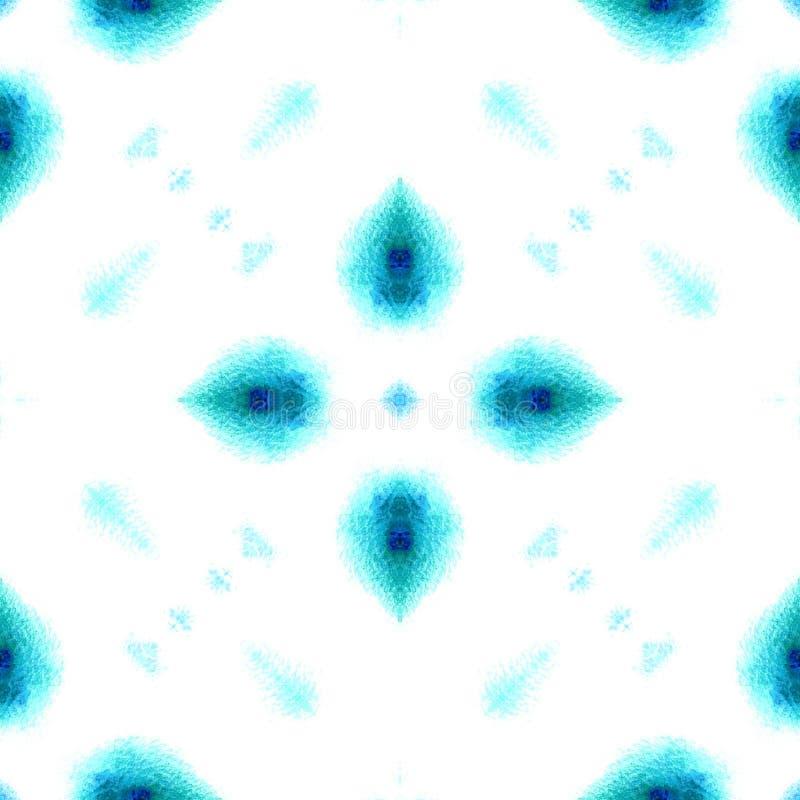 Acuarela geom?trica azul Modelo incons?til Ornamento superficial imagen de archivo libre de regalías