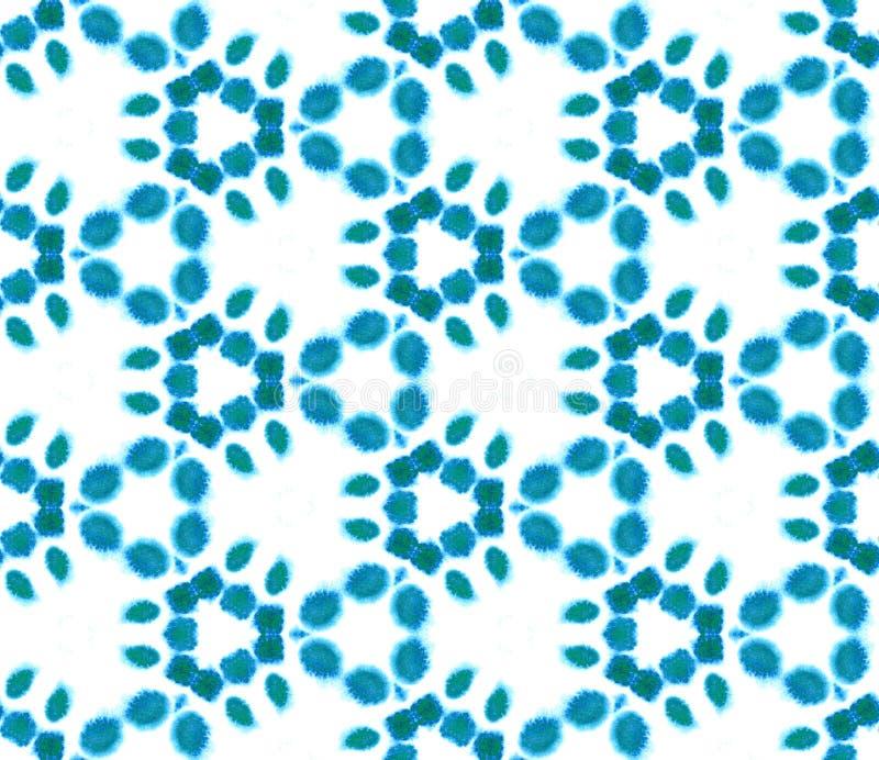 Acuarela geom?trica azul Modelo incons?til Ornamento superficial libre illustration
