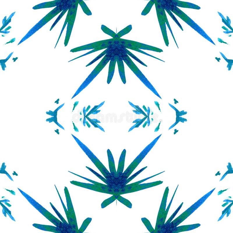 Acuarela geom?trica azul Modelo incons?til Ornamento superficial ilustración del vector