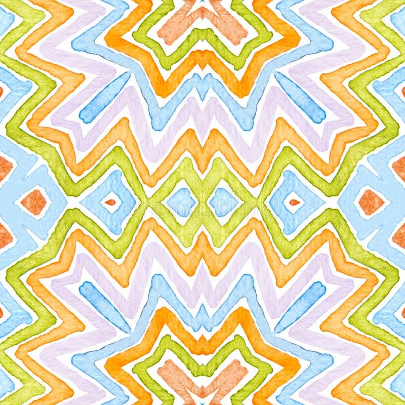Acuarela geom?trica colorida foto de archivo