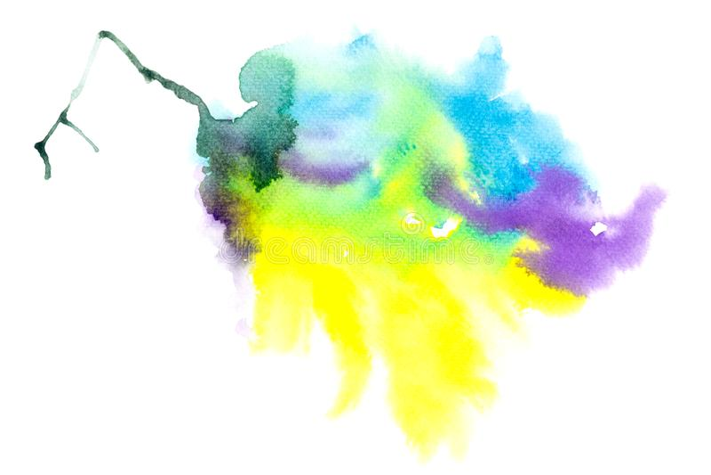 Acuarela que pinta salpicar colorido en textura del Libro Blanco libre illustration