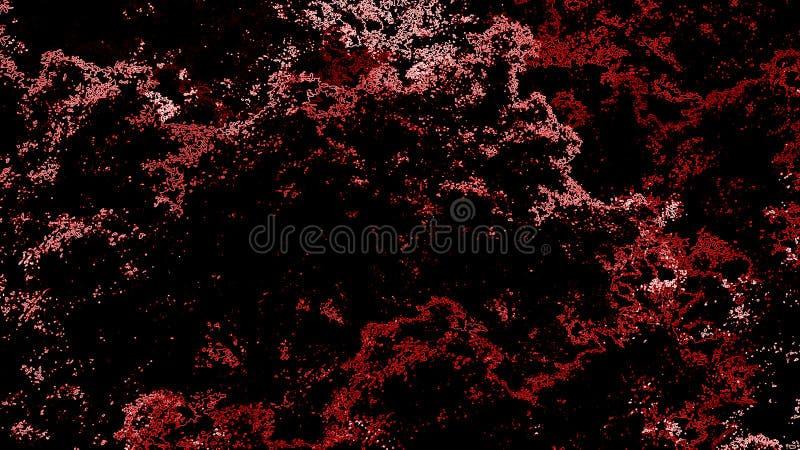Acuarela roja abstracta en el contexto negro Textura del espacio del arte Fondos abstractos de la forma ilustración del vector