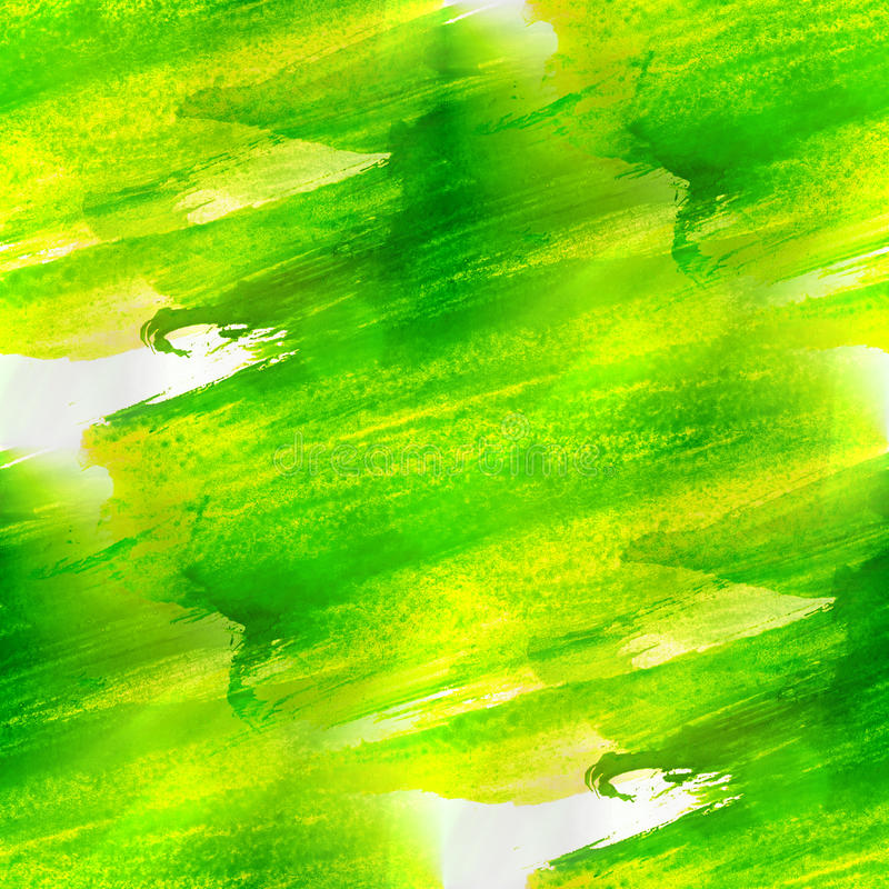 Acuarela verde, amarilla de la textura inconsútil libre illustration