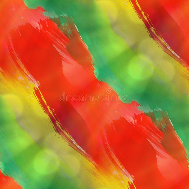 Acuarela verde, amarilla, roja de la textura inconsútil libre illustration