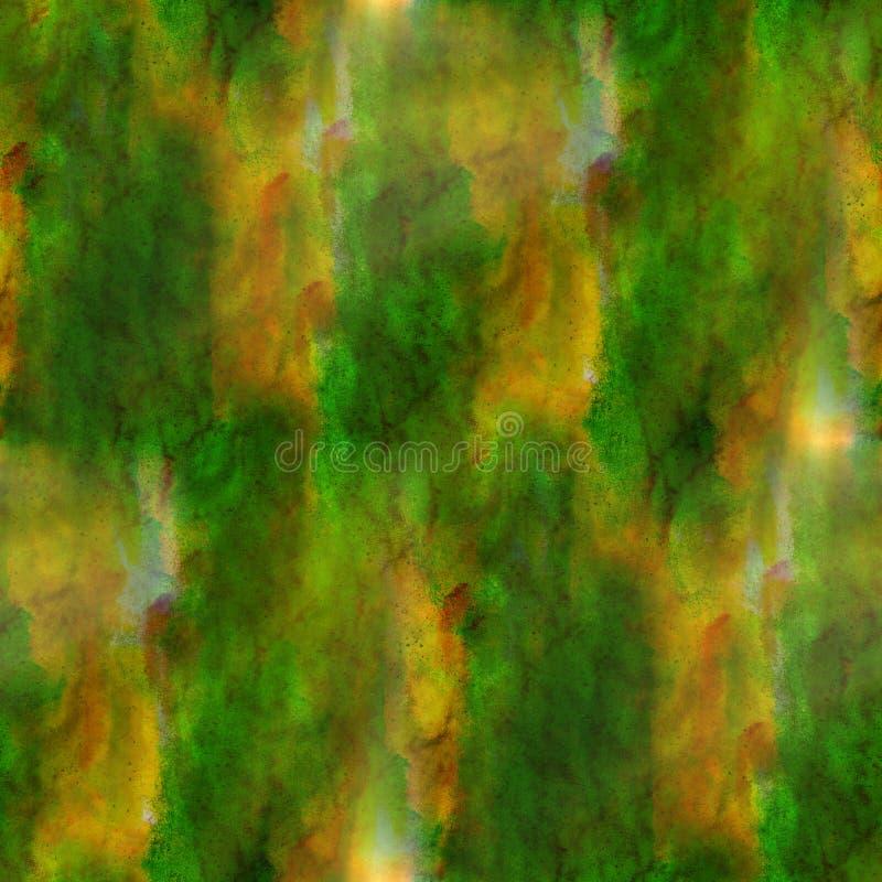 Acuarela verde, marrón del fondo inconsútil libre illustration