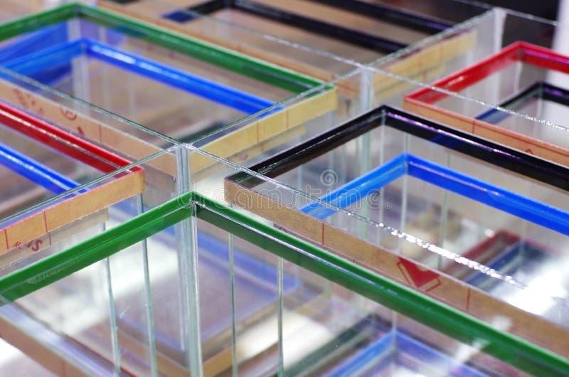 Acuario colorido del tanque foto de archivo libre de regalías