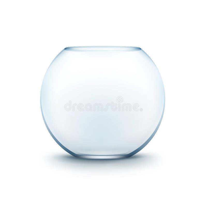 Acuario liso de cristal transparente azul de Fishbowl stock de ilustración