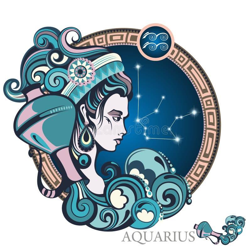 acuario Muestra del zodiaco libre illustration