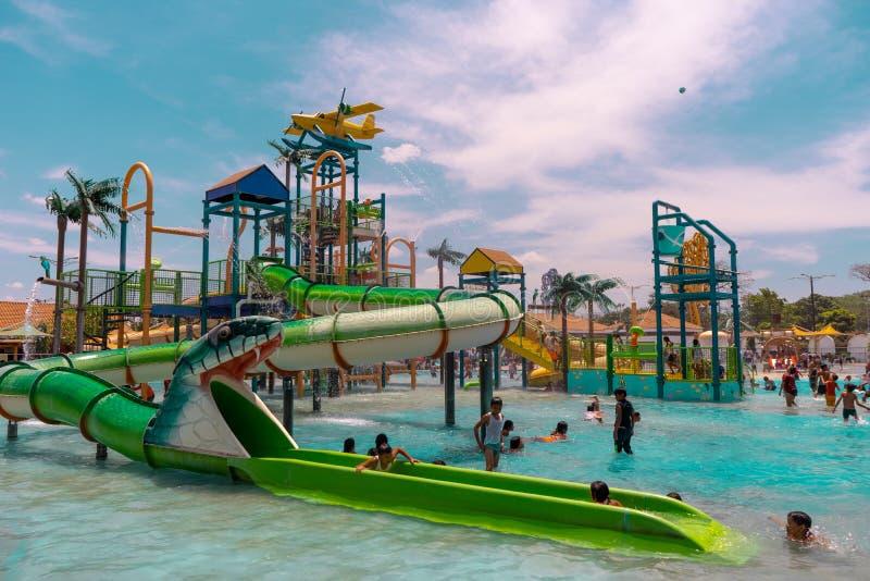 Acuatic park in Managua Nicaragua. The acuatic park in Paseo Xolotlan, at harbour in Managua Nicaragua stock image