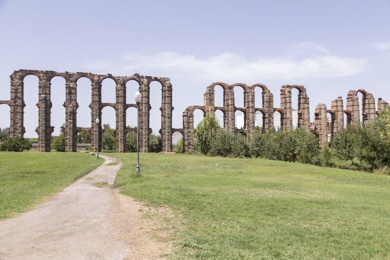 Acueducto DE los milagros, Merida, Spanje royalty-vrije stock foto's