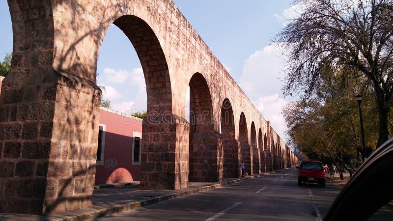 Acueducto de Morelia obraz stock