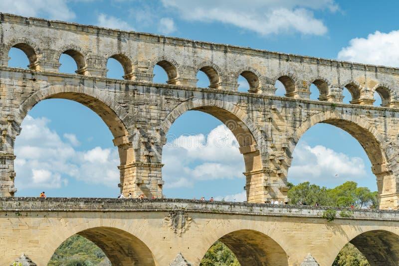 Acueducto de Pont du Gard fotografía de archivo