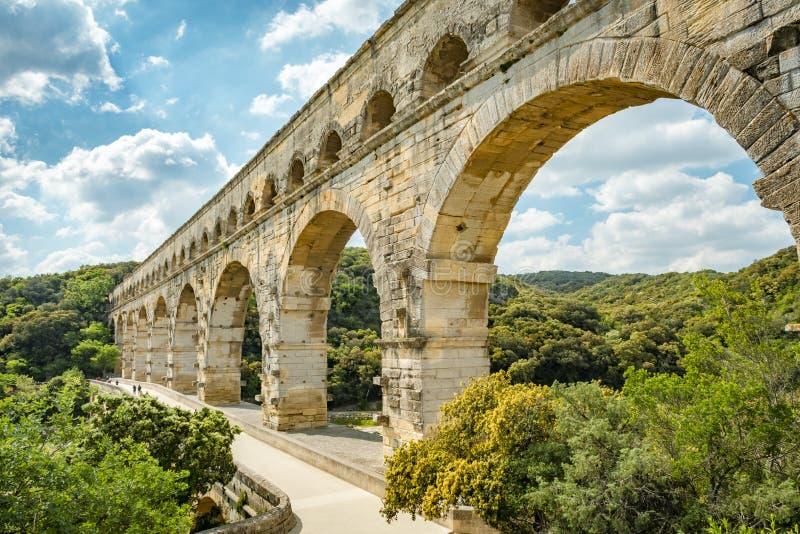 Acueducto de Pont du Gard fotografía de archivo libre de regalías