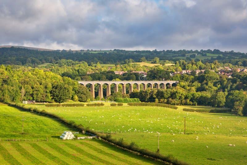 Acueducto de Pontcysyllte en País de Gales del norte fotografía de archivo