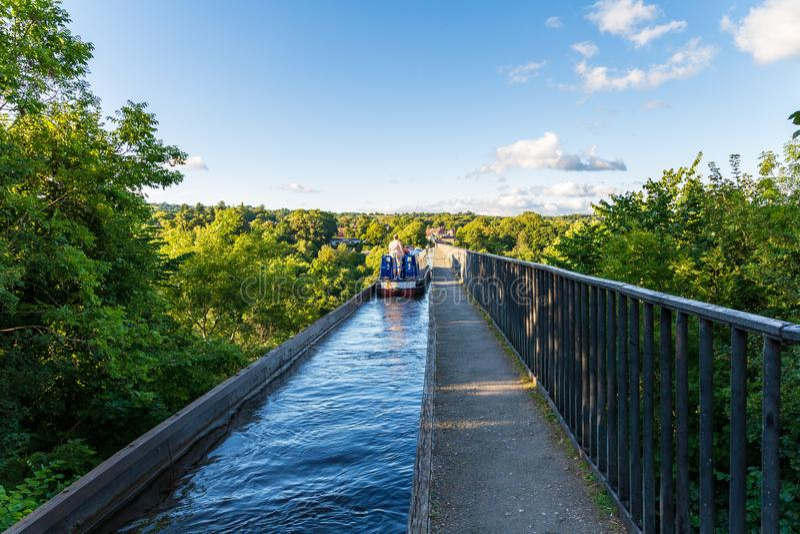 Acueducto de Pontcysyllte, Wrexham, País de Gales, Reino Unido fotos de archivo