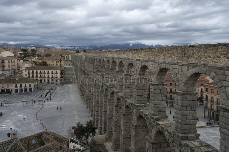 Acueducto de Segovia imágenes de archivo libres de regalías