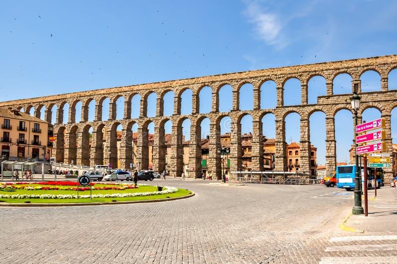 Acueducto de Segovia, Espa?a fotografía de archivo libre de regalías