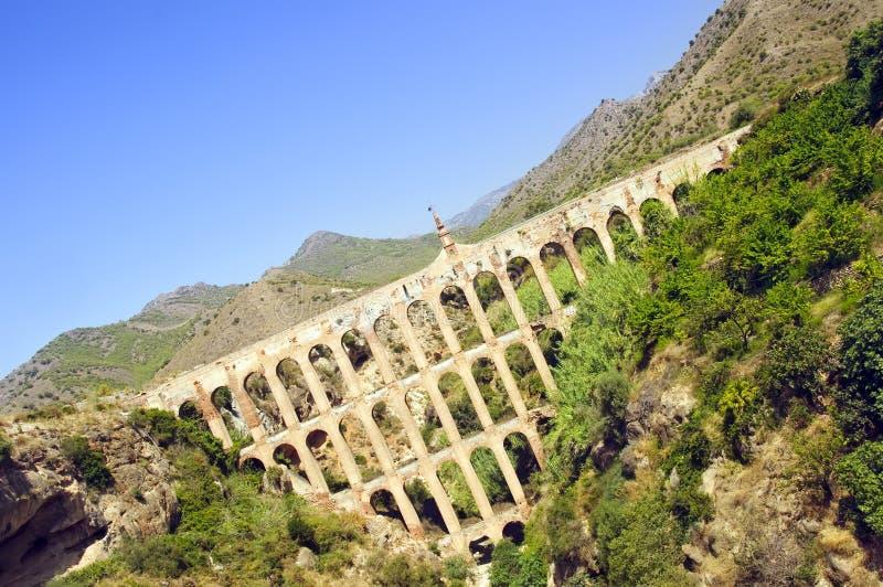 Acueducto de un águila en Nerja, Andaluc3ia, España fotografía de archivo