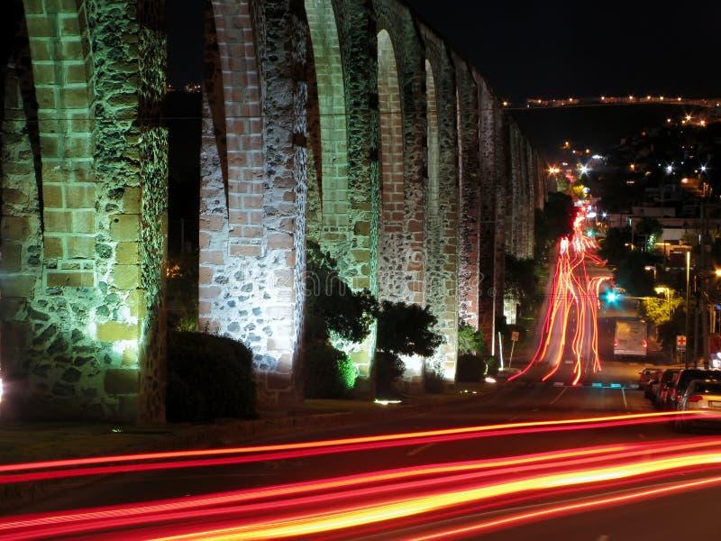 Acueducto en Queretaro, México del Los Arcos. fotografía de archivo