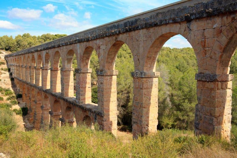Acueducto en Tarragona imagen de archivo libre de regalías