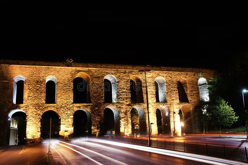 Acueducto Estambul de Valens fotografía de archivo