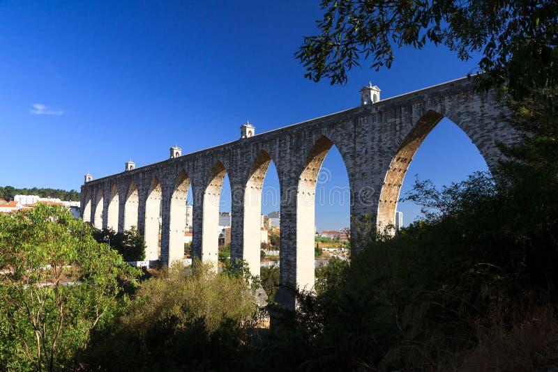 Acueducto Lisboa de los Livres de los Aguas imágenes de archivo libres de regalías