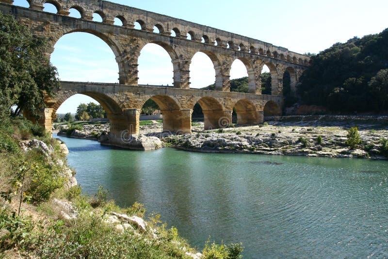 Acueducto romano imagen de archivo