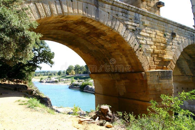 Acueducto romano foto de archivo libre de regalías