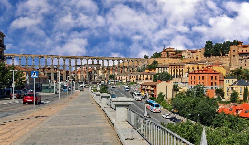 Acueducto, Segovia España imagenes de archivo