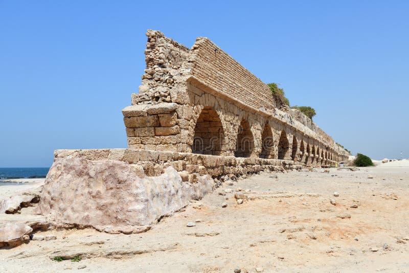Acueductos romanos Caesarea Maritima Israel fotografía de archivo libre de regalías