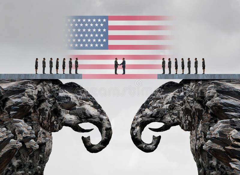 Acuerdo conservador americano ilustración del vector